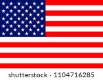 usa national flag | Shutterstock .eps vector #1104716285