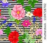 floral seamless pattern ... | Shutterstock .eps vector #1104728702