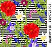 floral seamless pattern ... | Shutterstock .eps vector #1104728705