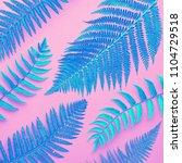 creative tropical fresh fern... | Shutterstock . vector #1104729518