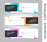 vector abstract design banner... | Shutterstock .eps vector #1104734126
