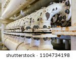 a piping system of carbon... | Shutterstock . vector #1104734198