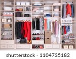 large wardrobe with different... | Shutterstock . vector #1104735182