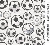 monochrome soccer balls... | Shutterstock .eps vector #1104737615