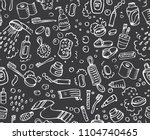 bathroom set  washing  bathing  ... | Shutterstock .eps vector #1104740465