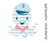 octopus cute print. sea fanny... | Shutterstock .eps vector #1104741395