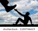 the silhouette of a large leg... | Shutterstock . vector #1104746615