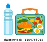 lunch box with a good lunch for ... | Shutterstock .eps vector #1104755018