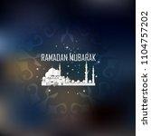 eid mubarak greeting cards.... | Shutterstock .eps vector #1104757202