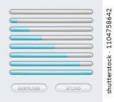 loading progress bar. web... | Shutterstock . vector #1104758642