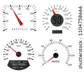 speedometer scales.... | Shutterstock . vector #1104758666