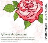 vintage rose. hand drawn vector ... | Shutterstock .eps vector #1104760082