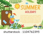 summer holidays horizontal... | Shutterstock .eps vector #1104762395