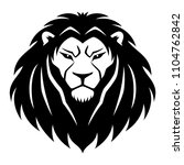 sign of a black lion on a white ... | Shutterstock .eps vector #1104762842