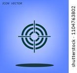 target vector icon | Shutterstock .eps vector #1104763802
