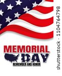 happy memorial day. | Shutterstock .eps vector #1104764798