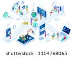 investment and virtual finance. ... | Shutterstock .eps vector #1104768065