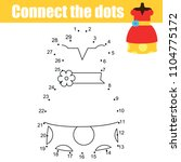 connect the dots children... | Shutterstock .eps vector #1104775172