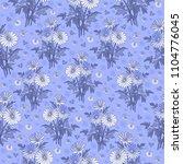 illustration of seamless floral ... | Shutterstock . vector #1104776045
