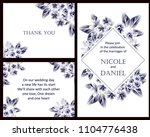 invitation with floral... | Shutterstock . vector #1104776438