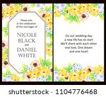 invitation with floral... | Shutterstock . vector #1104776468