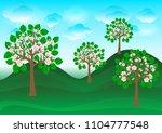 illustration of blossoming... | Shutterstock . vector #1104777548