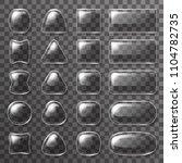 glass plate ui buttons app...