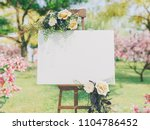 wedding board mockup | Shutterstock . vector #1104786452