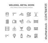 welding services flat line... | Shutterstock .eps vector #1104786935