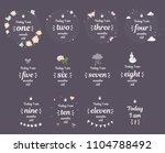 milestone baby month shower new ... | Shutterstock .eps vector #1104788492