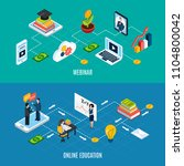 two horizontal webinar... | Shutterstock .eps vector #1104800042