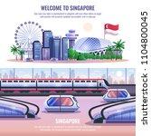 singapore horizontal banners... | Shutterstock .eps vector #1104800045