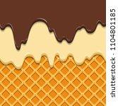 pattern waffle texture melts...   Shutterstock .eps vector #1104801185