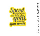 speed up your pace and reach... | Shutterstock .eps vector #1104809822