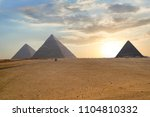 great pyramids in giza valley... | Shutterstock . vector #1104810332