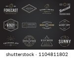 set of vector weather icons and ... | Shutterstock .eps vector #1104811802