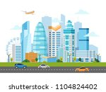 urban landscape with buildings  ... | Shutterstock .eps vector #1104824402