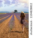 landscape of provence with...   Shutterstock . vector #1104828812