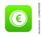euro coins icon digital green... | Shutterstock .eps vector #1104829028