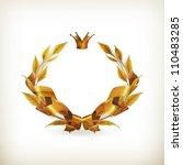 design element emblem gold  old ... | Shutterstock .eps vector #110483285