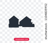 row of houses vector icon... | Shutterstock .eps vector #1104835952