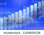 businessman on digital stock... | Shutterstock . vector #1104839228