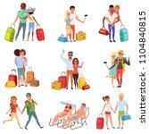 people traveling set  family... | Shutterstock .eps vector #1104840815