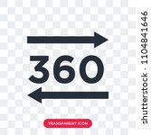 360 degree vector icon isolated ...   Shutterstock .eps vector #1104841646