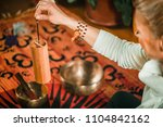 koshi chime in sound therapy | Shutterstock . vector #1104842162