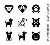 9 animals icons vector set.... | Shutterstock .eps vector #1104842915