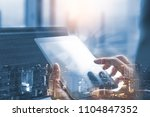iot  internet of things.... | Shutterstock . vector #1104847352