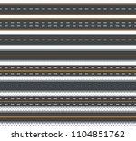 seamless template  pattern set... | Shutterstock .eps vector #1104851762