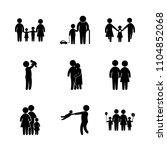 9 family icons vector set. park ... | Shutterstock .eps vector #1104852068