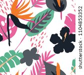 minimal summer trendy vector... | Shutterstock .eps vector #1104853352